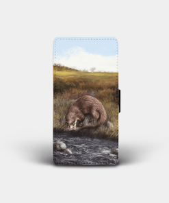 Country Images Personalised Custom Customised Flip Phone Cover Case Scotland Scottish Highlands Highland Otter Otters Gift Gifts