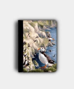 Country Images Personalised Custom Customised Flip iPad Cover Case Scotland Scottish Highlands Puffin Puffins Puffing Pufflings Gift Gifts