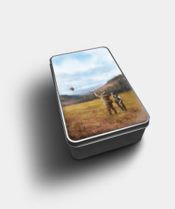 Country Images Personalised Custom Customised Rectangular Tin Tins Scotland Scottish Highland Highlands Biscuit Sweet Clay Pigeon Shooting Club