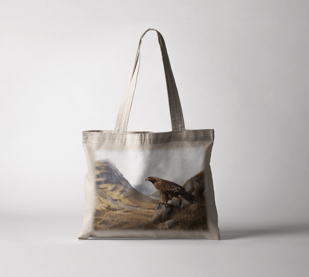 Country Images Personalised Highland Collection Scottish Golden Eagle Cheap Tote Bag Scotland UK