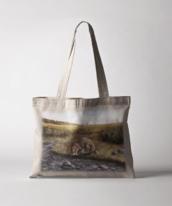 Country Images Personalised Highland Collection Scottish Otter Wildlife Cheap Tote Bag Scotland UK