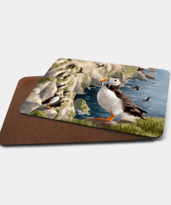 Country Images Personalised Printed Custom Placemats Tablemats Cheap Highland Collection Puffin Puffins Scotland Scottish Gift Gifts Ideas Tableware (Board)