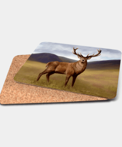Country Images Personalised Printed Custom Placemats Tablemats Cheap Highland Collection Stag Stags Deer Scotland Scottish Gift Gifts Ideas Tableware (Cork)