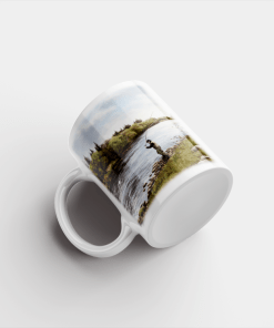 Country Images Personalised Printed Highland Collection Fly Fishing Scotland Design Cheap Mug - 1