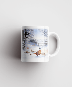 Country Images Personalised Printed Highland Collection Pheasants Scotland Design Cheap Mug - 2