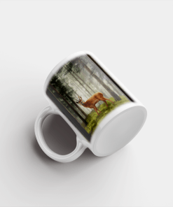 Country Images Personalised Printed Highland Collection Roe Buck Scotland Design Cheap Mug - 1