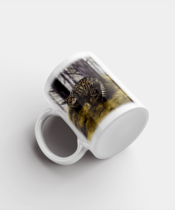 Country Images Personalised Printed Highland Collection Wild Cat Scotland Design Cheap Mug - 1