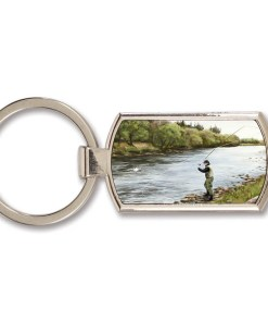 Highland Collection - Lozenge Keyring (Fly Fishing)