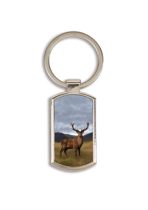 Highland Collection - Lozenge Keyring (Stag)