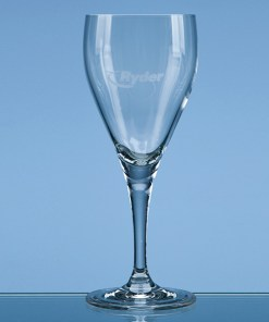 "Engraved ""Michelangelo"" White Wine Glass"
