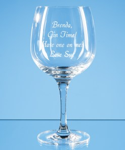 Engraved Spanish Gin Glass