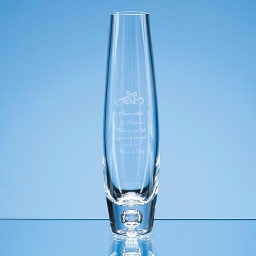 Engraved Tall Bubble Base Bud Vase Gift