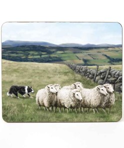 Highland Collection – Table Mat (Sheep & Sheepdog) Personalised Gift