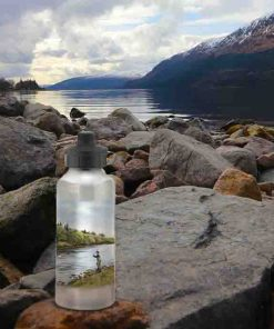 Highland Collection - Aluminium Reusable Environmentally Friendly Water Bottle (Fly Fishing) Personalised Gift