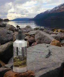 Highland Collection - Aluminium Reusable Environmentally Friendly Water Bottle (Wild Cat) Personalised Gift