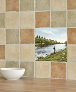 Highland Collection - Ceramic Tile (Fly Fishing)