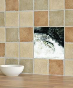 Highland Collection - Ceramic Tile (Leaping Salmon)