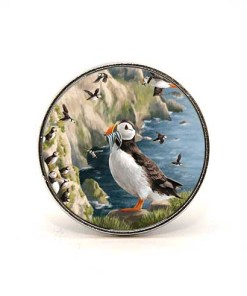 Highland Collection - Circular Magnet (Puffin)