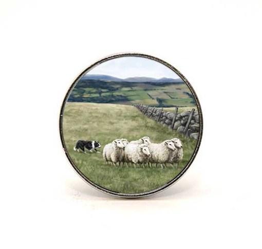 Highland Collection - Circular Magnet (Sheep & Sheepdog)