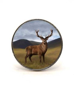 Highland Collection - Circular Magnet (Stag)