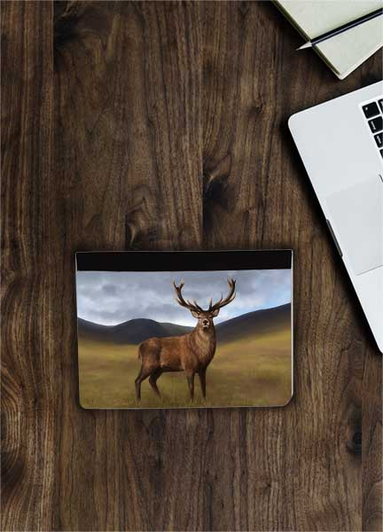 Highland Collection - Flip iPad Case (Stag) Personalised Gift
