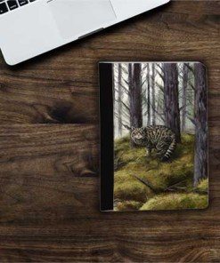 Highland Collection - Flip iPad Case (Wild Cat) Personalised Gift