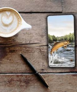Highland Collection - Flip Phone Case (Brown Trout) Personalised Gift