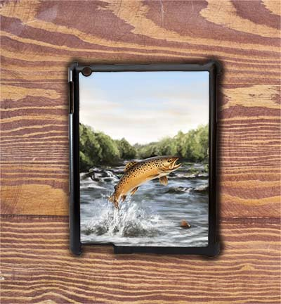 Highland Collection - iPad Shell Case (Brown Trout) Personalised Gift