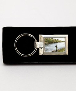 Highland Collection - Lozenge Keyring (Fly Fishing)