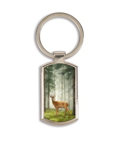 Highland Collection - Lozenge Keyring (Roe Buck)