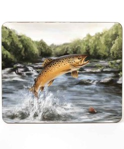 Highland Collection - Mousemat (Brown Trout) Personalised Gift