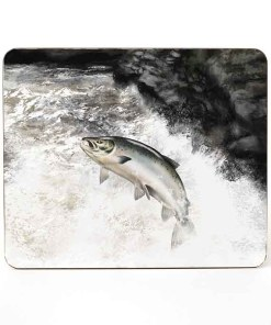 Highland Collection - Mousemat (Leaping Salmon) Personalised Gift