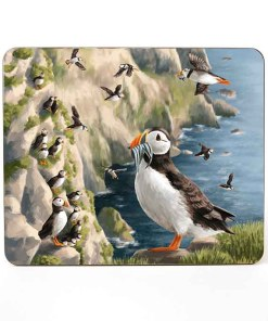 Highland Collection - Mousemat (Puffin) Personalised Gift