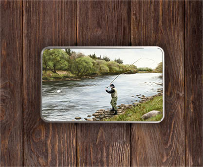 Highland Collection - Rectangular (Fly Fishing) Personalised Gift