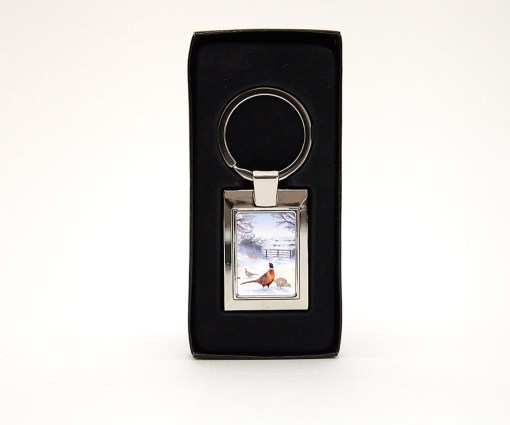 Highland Collection - Rectangular Keyring (Pheasant)