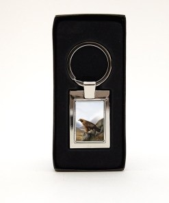 Highland Collection - Rectangular Keyring (Stag)
