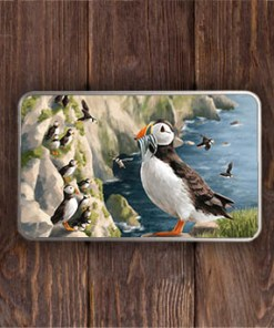 Highland Collection - Rectangular (Puffin) Personalised Gift Tin