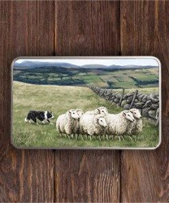 Highland Collection - Rectangular (Sheep & Sheepdog) Personalised Gift