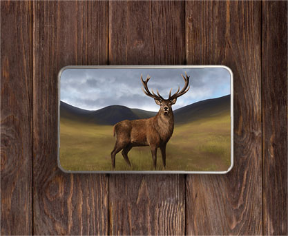 Highland Collection - Rectangular (Stag) Personalised Gift