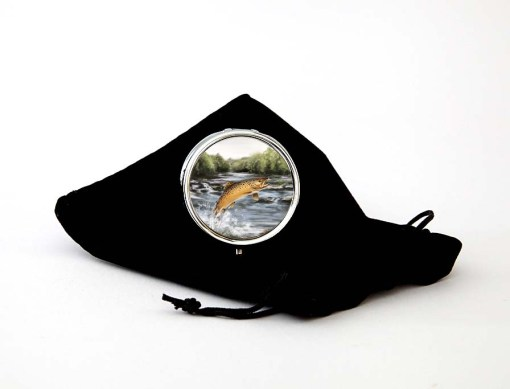 Highland Collection - Round Pill Box (Brown Trout)