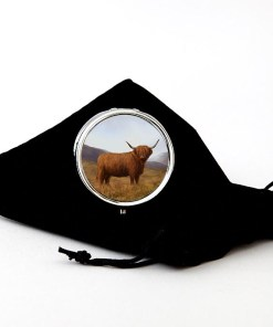 Highland Collection - Round Pill Box (Highland Cow)