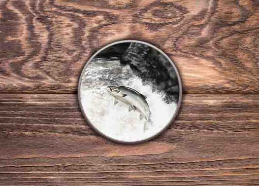 Highland Collection - Round Tin (Leaping Salmon) Personalised Gift