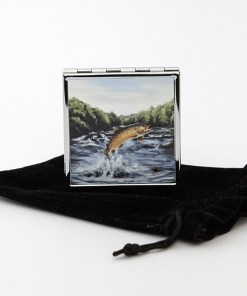 Highland Collection - Square Pill Box (Brown Trout)