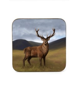 Highland Collection - Square (Stag) Personalised Gift