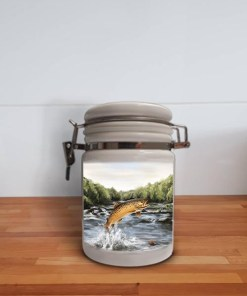 Highland Collection - Storage Jar Container (Brown Trout) Personalised Gift