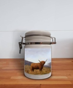 Highland Collection - Storage Jar Container (Highland Cow) Personalised Gift