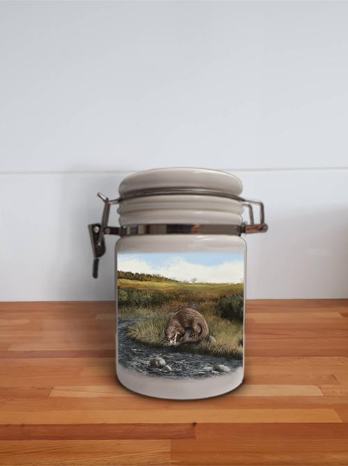 Highland Collection - Storage Jar Container (Otter) Personalised Gift