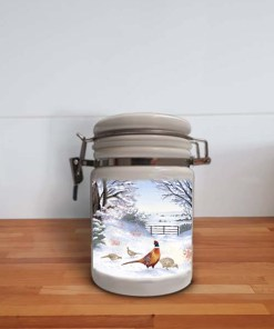 Highland Collection - Storage Jar Container (Pheasant) Personalised Gift