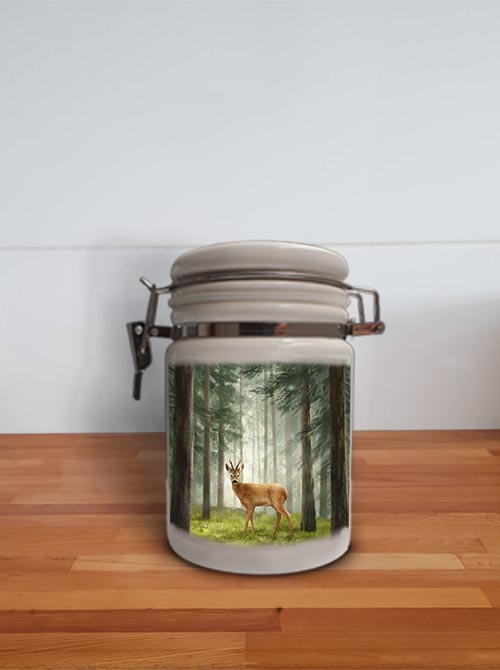 Highland Collection - Storage Jar Container (Roe Buck) Personalised Gift