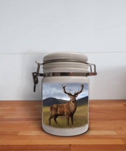 Highland Collection - Storage Jar Container (Stag) Personalised Gift